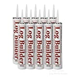 Sashco Log Builder Caulking 29 oz Tubes Case 10