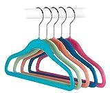 Kids Goods Best Deals - Whitmor 6696-3055-5 Kids Hanger and Hooks Collection Feel Good Plastic Kid's Hangers, Set of 5 Assorted Colors