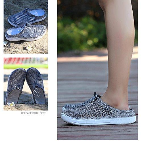 Footwear Shoes bash Summer Beach Slippers Garden Water Clog Gray OUYAJI Womens wIPCfnqBx