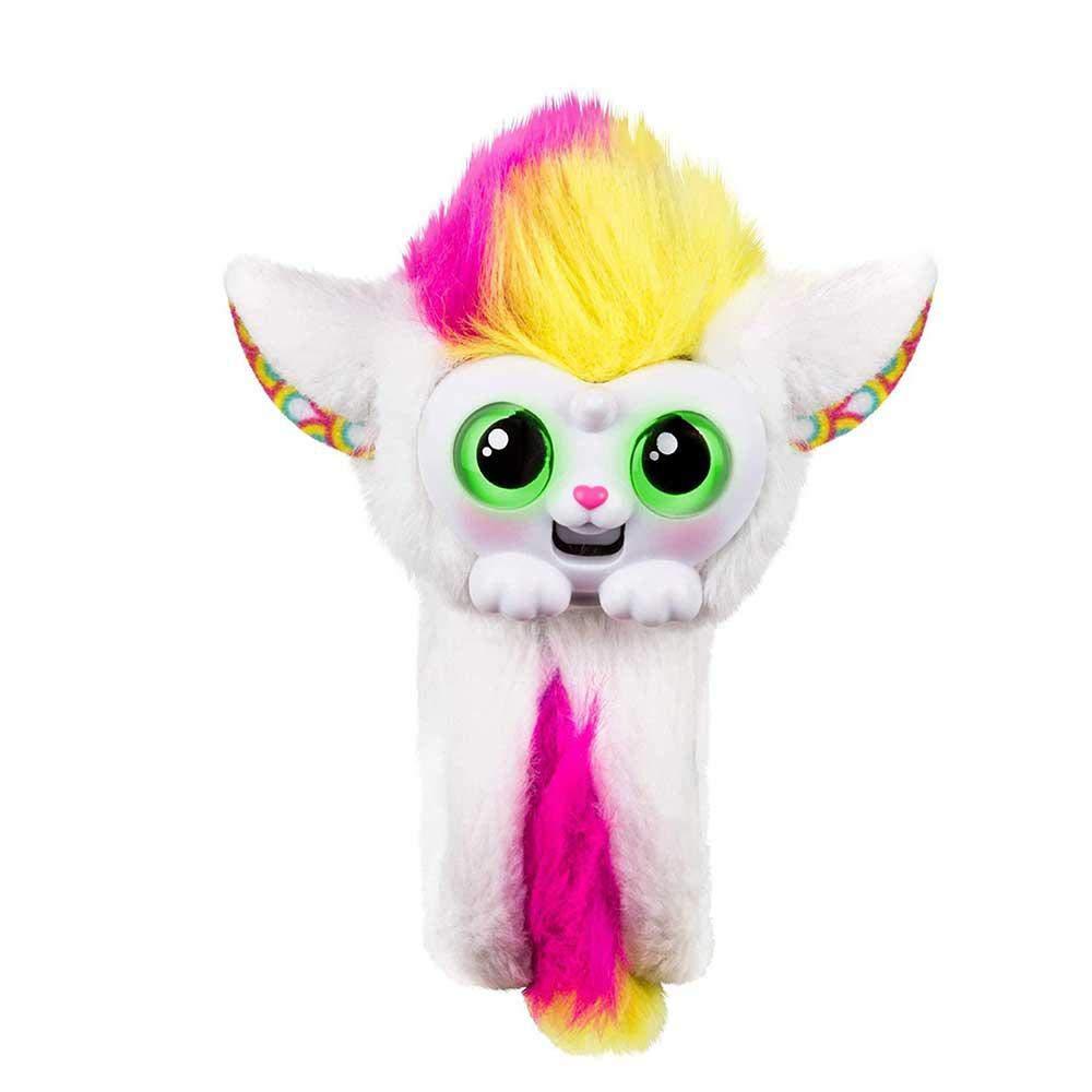 leegoal Wrapples Juguetes de Peluche Interactivos Brazaletes Slap con Mono Furry Animal para Niños,Muñeca con Ojos Grandes,Electrónicos Juguetes Regalos ...