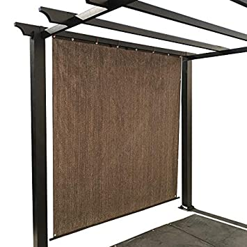 Alion Home Rod Pocket Sun Shade Panel with Aluminum Eyelets for Patio, Awning, Window Cover, Instant Canopy Side Wall, Pergola or RV 10 x 8 , Mocha Brown