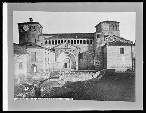 Vintography 8 x 10 Reprinted Old Photo Spain, Gate Santillana Inst. at Santander, Spain 1918 National Photo Co 47a by Vintography