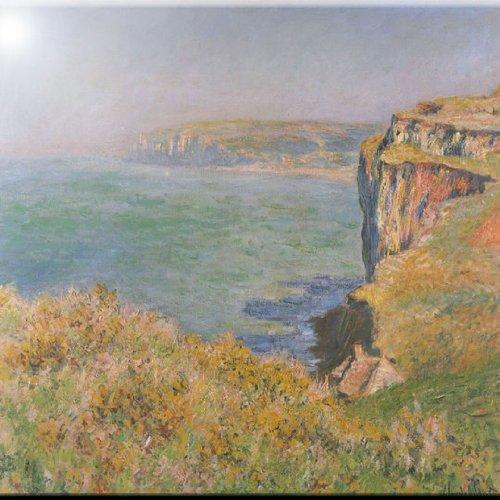 Rikki Knight 12 x 12 Claude Monet Cliffs at Varengeville Design Ceramic Art Tile