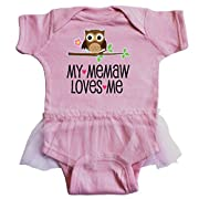 inktastic - My Memaw Loves Me Girl Owl Infant Tutu Bodysuit 6 Months Pink 2d666