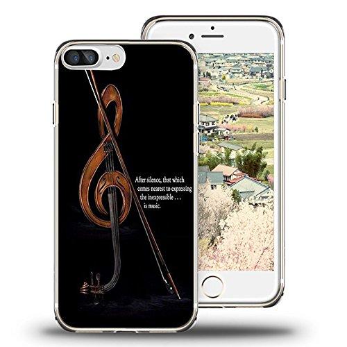 iPhone 7 Plus Case, iPhone 8 Plus Case, Viwell TPU Soft Case Rubber Silicone Retro violin