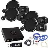 JBL - 2 Pairs of Stadium GTO960C 6x9-Inch Component Speakers + ARC Audio X2 450.4 500 Watt 4 Channel Amp + Wiring Kit