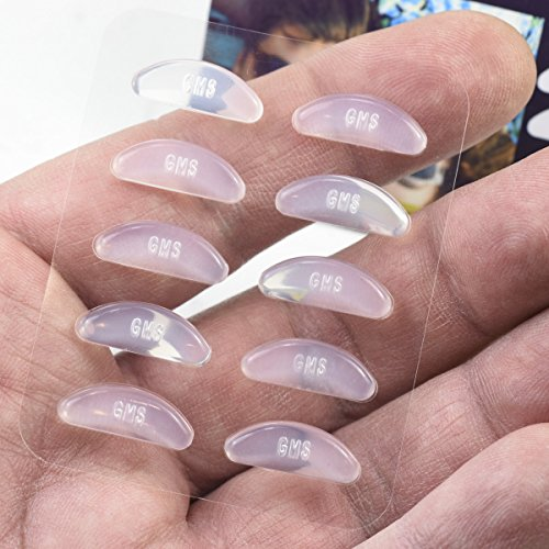 cb6fb837ef GMS Optical® 2.5mm Anti-slip Adhesive Contoured Soft Silicone Eyeglass Nose  Pads with