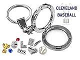 CLEVELAND BASEBALL Glass Locket Key Chain Set w/ Floating CHAMPIONSHIP Charms & Gift Box