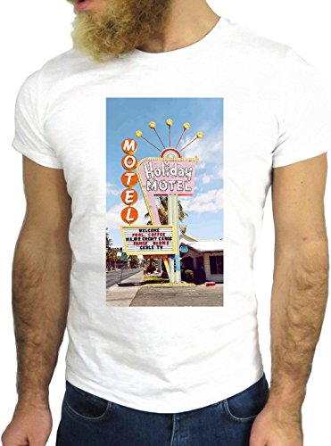 T-SHIRT JODE GGG24 HZ0360 MOTEL FUN COOL VINTAGE ROCK FUNNY FASHION CARTOON NICE AMERICA BIANCA - WHITE S