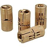 BQLZR 12mm Hidden Invisible Concealed Copper Hinge for DIY Wooden Door Caravan Worktop Pack of 4