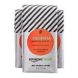 #7: AmazonFresh Colombia, 100% Arabica Coffee, Medium Roast, Whole Bean, 12 Ounce, Pack of 3