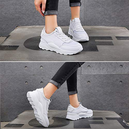 Yan Lycra Corsa Platform C Antiscivolo Leggere Da Sneakers Fall Shoes amp; Pelle Fashion Donna Scarpe Up Lace Casual Spring rrAqnwSF