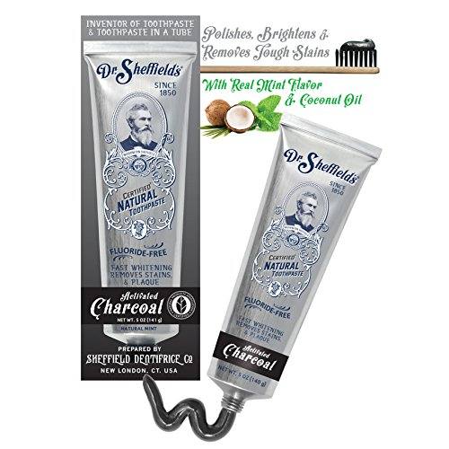 Dr. Sheffield Certified All Natural Toothpaste - ACTIVATED CHARCOAL - 5 OZ made in New England
