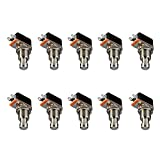 ESUPPORT Guitar Effects Pedal Box Momentary SPST Button Stomp Foot Switch Push Button Pack of 10