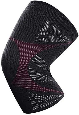 IhDFR スポーツ膝パッド、膝圧縮スリーブ実行するためのサポート、関節炎、メニスカス涙、スポーツ、関節の痛みの救済や怪我の回復 (Color : Pink, Size : L:36-40CM)