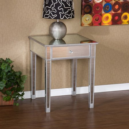 Southern Enterprises Illusions Collection Mirrored Accent Table