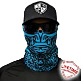 SA Company Face Shield Micro Fiber Protect from wind, dirt and bugs. Worn as a Balaclava, Neck Gaiter & Head band for Hunting, Fishing, Boating, Cycling, Paintball and Salt lovers. - Polynesian Tribal