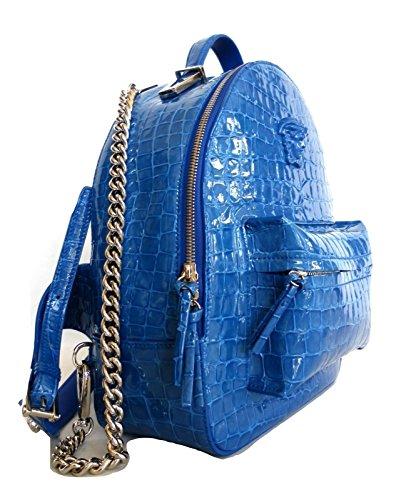 MEDIO dos Sac BLU main à femme Bleu TURCHESE porté pour au Versace Aw4PRxqR
