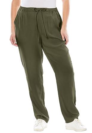 046b027d752 Jessica London Women s Plus Size Tencel Drawstring Pants at Amazon Women s  Clothing store