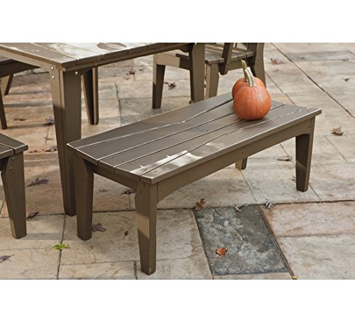 (Uwharrie Chair Co H097-19-Hunter-Dist-Pine Hourglass 2-Seat Bench Without Back, Hunter-Distressed)