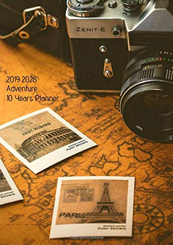 10 Years Planner 2019-2028 A4 Adventure Goals Monthly ...