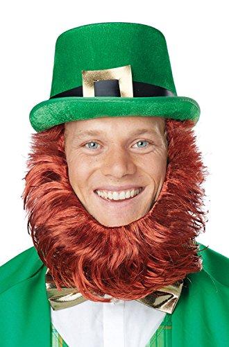 Irish Leprechaun Hat & Beard Getup ()