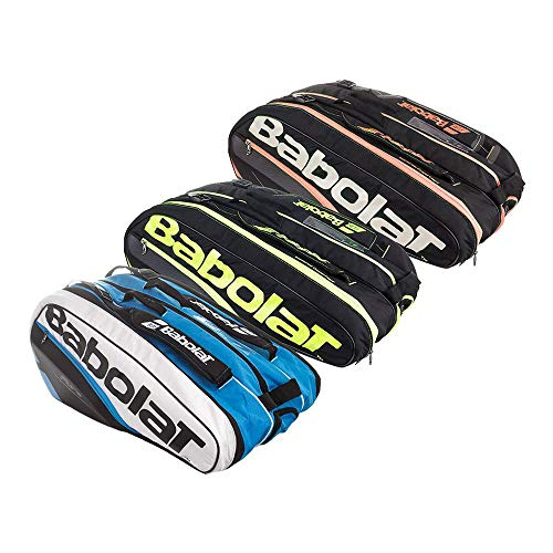 Babolat Pure Tennis Racquet Holder x12, Black/Yellow