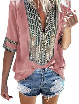 Costura Color de ContrasteTops Mujer Ronamick Lunares O Cuello Camisetas Mujer Manga Larga Blusa Mujer Lunares O Cuello Camisa Mujer(Rosado,XXXL): Amazon.es: Iluminación