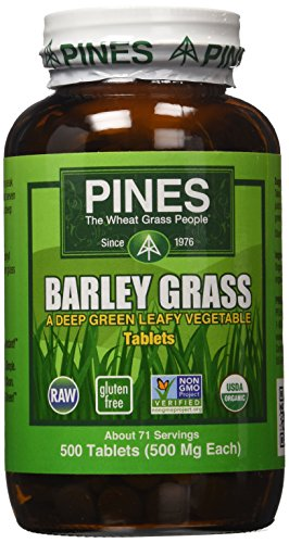 Pines Organic Barley Grass,500 mg,500 Count - Pines Wheat Powder Grass
