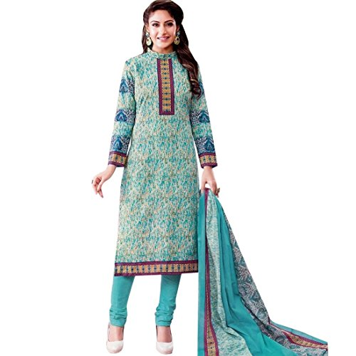 Ready to Wear Lawn Cotton Ethnic Printed Salwar Kameez suit Indian – 0X Plus, Green