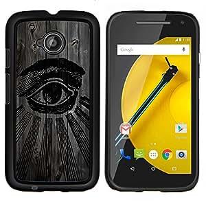 """Be-Star Único Patrón Plástico Duro Fundas Cover Cubre Hard Case Cover Para Motorola Moto E2 / E(2nd gen)( Enfriar Seeing Eye Illuminati"""" )"""