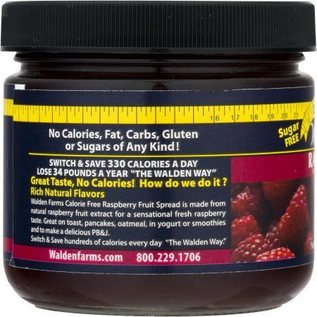 Raspberry Fruit Spread Jar 12 Ounce Free Calories by Walden Farms by Walden Farms (Image #4)