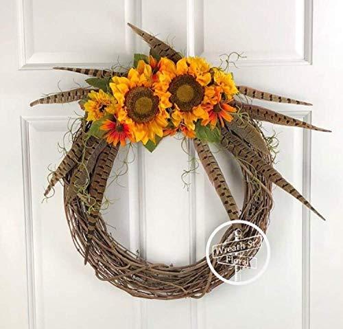 Pheasant Feathers Wreath - Feather Wreaths Pheasant