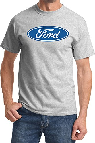 Ford Oval Logo Emblem T-Shirt Ford Men's Shirts, Ash, 2XL