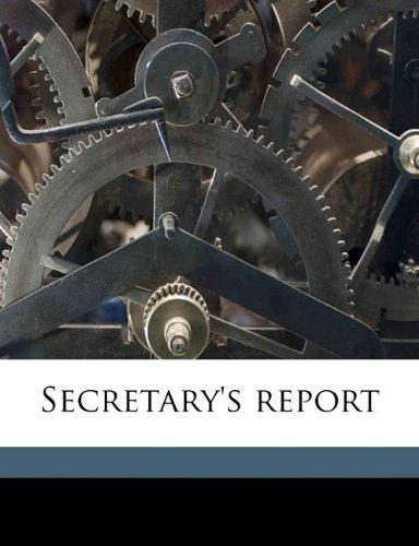 Secretary's report Volume n.2 1891 ebook