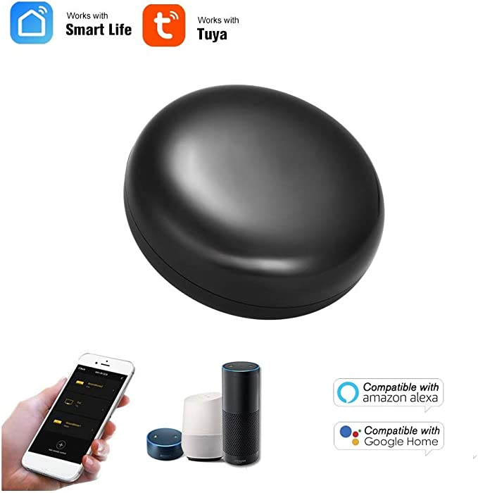 Amazon.com: WeniChen Smart IR Remote Control Hub WiFi Wireless IR Blaster Universal Remote for TV, Fan, Air Conditioner, Home Appliance, Compatible with Alexa, Google Home: Home Audio & Theater