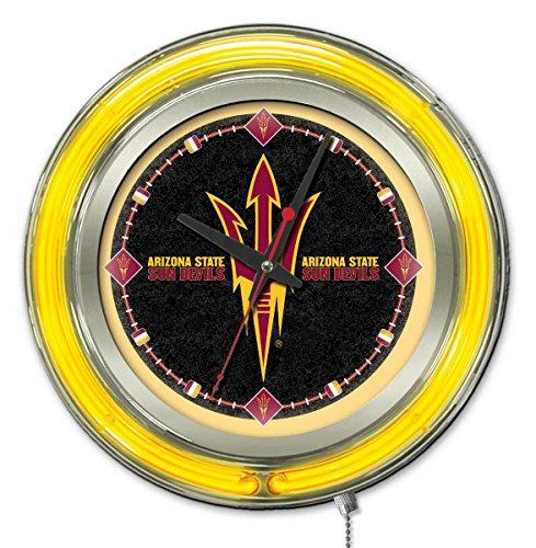 Holland Bar Stool Co. Arizona State Pitchfork Logo Neon Clock, 15
