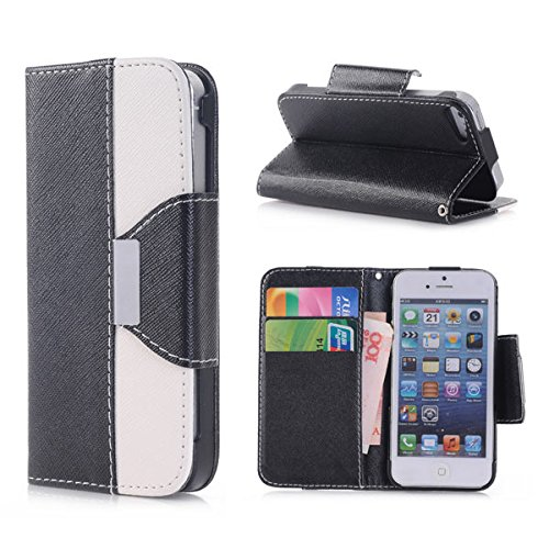 iphone-5-case-iphone-5-wallet-case-flip-wallet-magnetic-wristlet-closure-cover-skin-for-iphone-5se-b