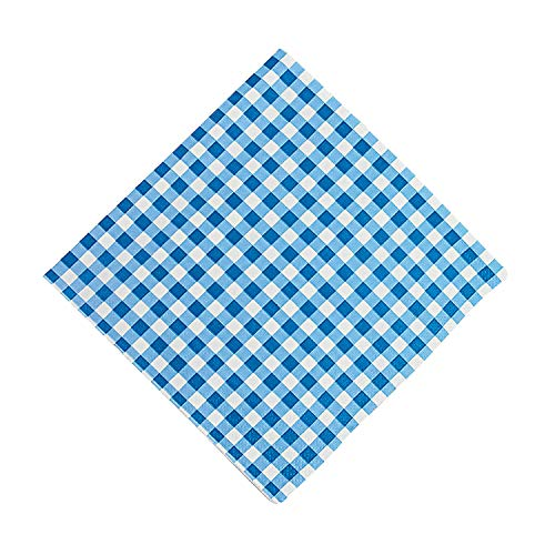 Blue Gingham Luncheon Napkins 6 1/2