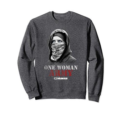 Unisex The Walking Dead One Woman Army Sweatshirt Large Dark Heather