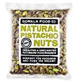 Gorilla Food Co. Shelled Pistachios (No Shell) Raw Unsalted - 1 Pound Resealable Bag