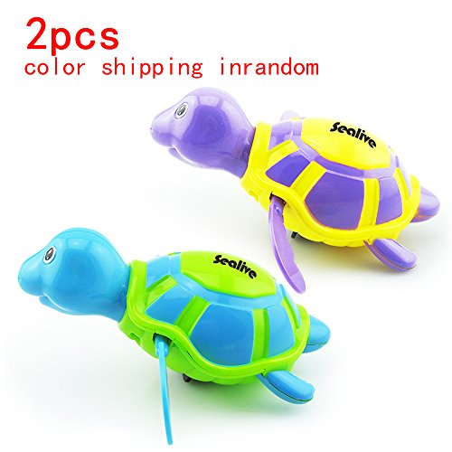 Sealive Baby&Child Floating Bath Fun Toys ,Wiggly Swimming Turtles Pool Baby Play Chain Animal Toys, for 3 Months baby&kid at least(2pcs,Random - Usps Order Tracking Money Number