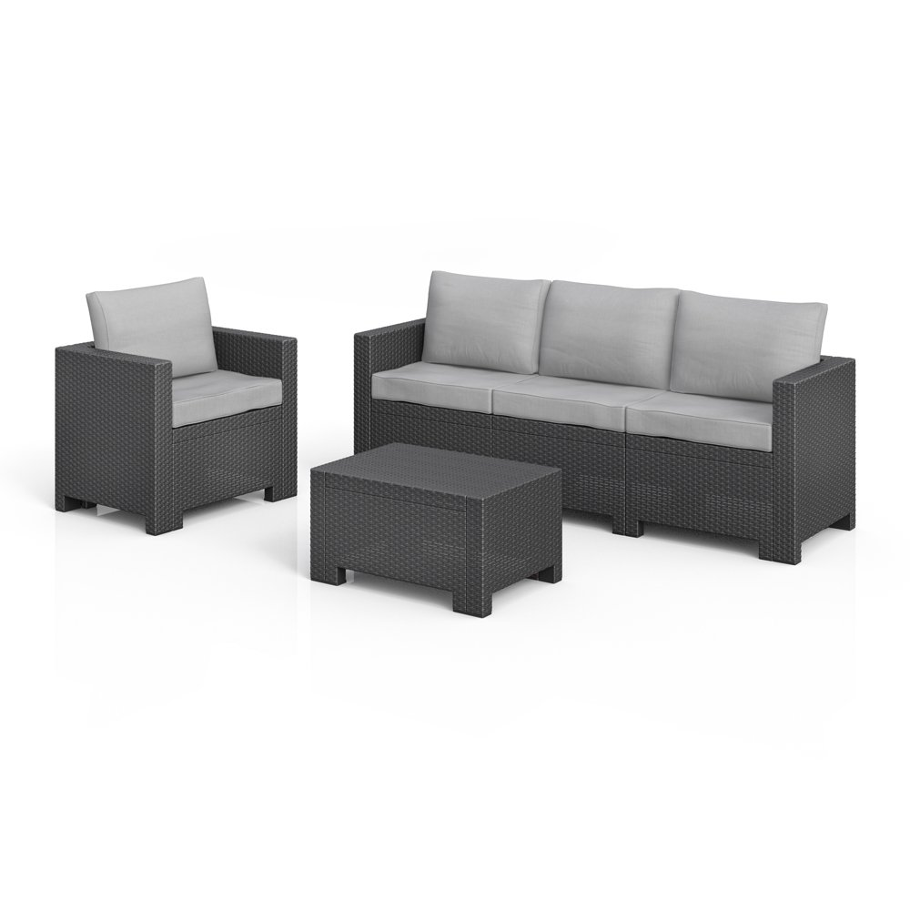 bica colorado lounge set poly rattan gartenm bel rattanoptik sitzgruppe auflagen g nstig bestellen. Black Bedroom Furniture Sets. Home Design Ideas