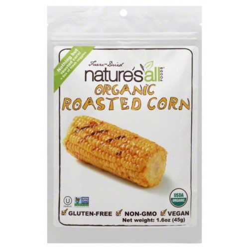 Natures All Foods Organic Freeze Dried Roasted Corn, 1.6 Ounce - 12 per case.