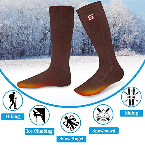 936e1216c0 Warm Thick Socks Men Women Electric Heated Socks Rechargeable Battery  Powered Winter Cotton Crew Socks for
