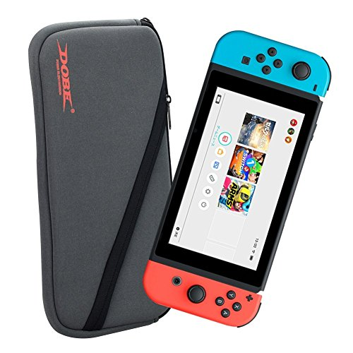 Grow Crib Series (i.VALUX DOBE Protective Soft Storage Bag Carry Pouch for Nintendo Switch [Gray])