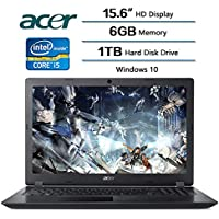 Acer Aspire 3 Laptop 15.6 inch HD Display, Intel HD Graphics 620, Intel Core i5-7200U 2.5 GHz, 6 GB DDR4 SDRAM Memory, 1 TB Hard Disk Drive, Windows 10