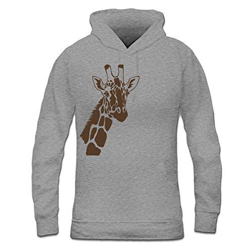 Sudadera con capucha de mujer Giraffe Outline by Shirtcity Gris granulado