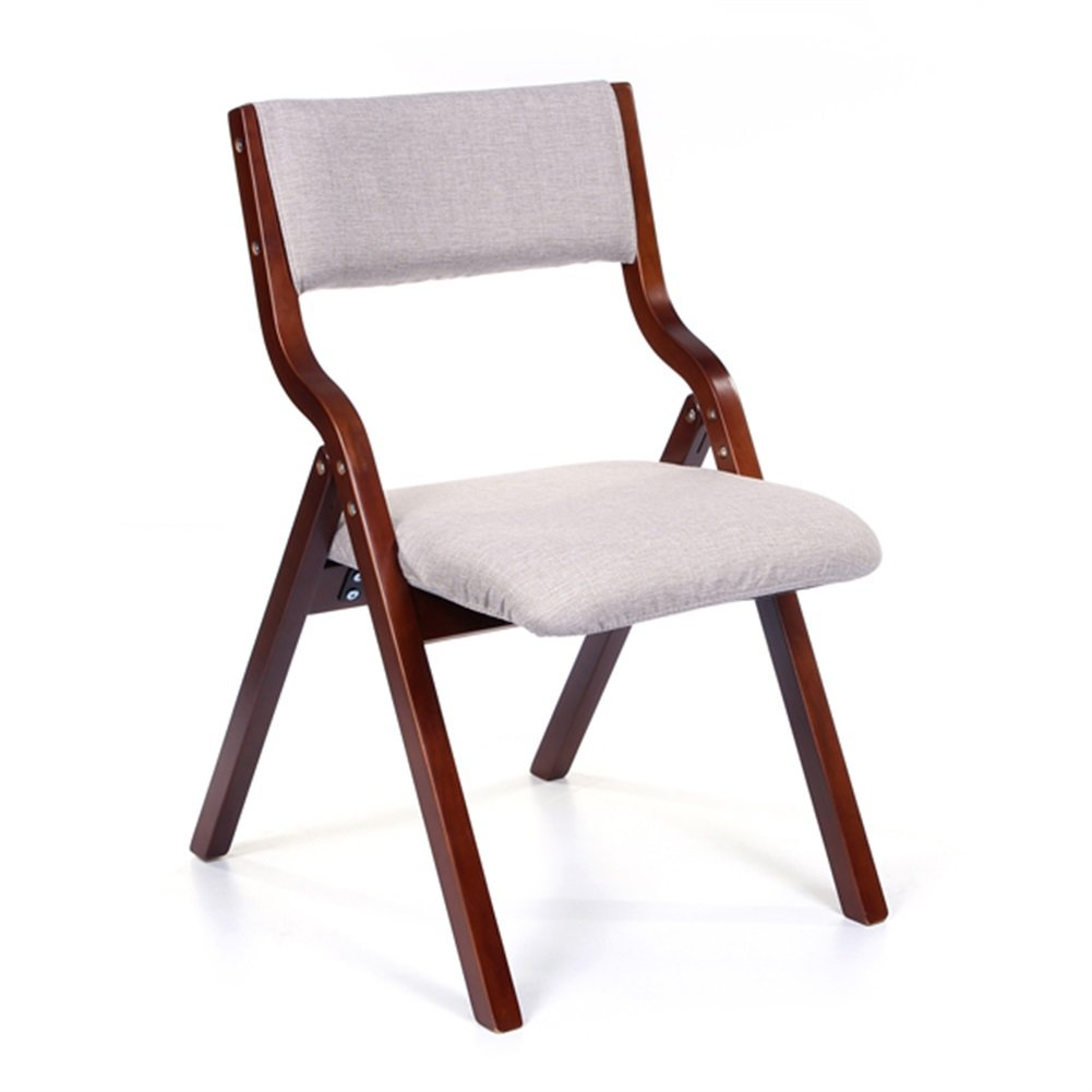 Fashion Concise Office Restaurant Chair Fashion Folding Armchair Study Desk Computer Solid Wood Backrest Leisure Chair Dining Chair Desk Chair for Bedroom and Living Room LiJiFeG-Chairs