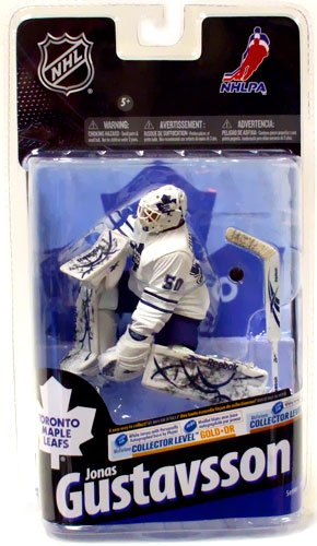 McFarlane Toys NHL Sports Picks Series 24 Action Figure Jonas Gustavsson (Toronto Maple Leafs) White Jersey Bronze Collector Level Chase by Unknown